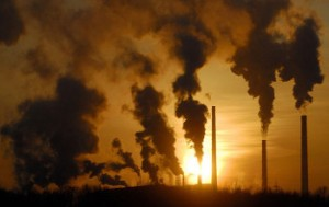 La pollution des airs usine