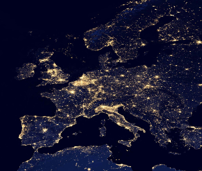 surpopulation-mondiale-Europe-de-nuit